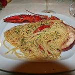 Spagetti with lobster