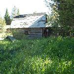 dumpy cabin in front
