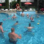 pool area with entertainment