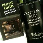 Cleverly-worded bath amenities