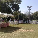 Lunch after Confrence in the Lawns