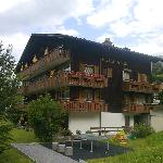 Rear view of the hotel and balconies