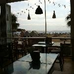Levante beach from inside La Amsteleria!