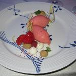Jordbærsorbet, lakrids