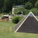 Pyramide innen mit Lichttherapie zum relaxen und entspannen