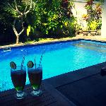 Welcome drinks by the pool