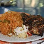 Whole Grilled Tilapia with Jollof Rice
