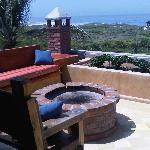 roof deck with fire pit