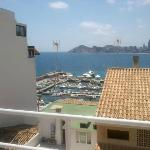 One of the fantastic views from the roof terrace of the hotel.