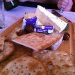 Cheese board, not very artfully assembled