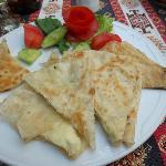 pâte, yaourt et épinards
