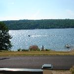 Keuka Lake's gorgeous view taken from the porch