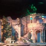 The set for The Twelfth Night at intermission