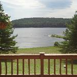 From the deck over looking Bear Pond