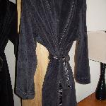 plush robes in the closet