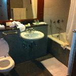 No space for a wheelchair. Bath-tub when it should be shower, toilet to low