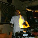 Blackie's table side flambe - a great show and great food