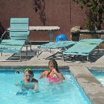 the pool area at carrs. kiddie pool on right