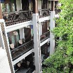 hotel view from garden