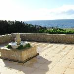 Seaview from Tuscan style garden