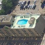 Close up of hotel from Skydeck