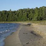 Beach not far from resort