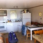 Kitchen area from the door