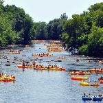 River Tubing on the Little Wolf River - New London, Wisconsin