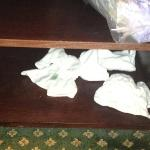dirty towels sat there for 4 days