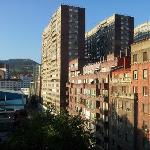Vue du balcon de la chambre 608