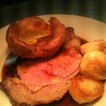 Sunday roast beef rib