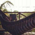 hammocks on deck