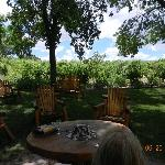 Patio for your own lunch - stop for food---