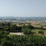 View from our hotel room of Tuscany