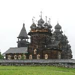 The Transfiguration Church with its onion domes.