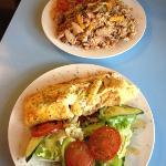 Jambalaya and provencale omelette - yum!