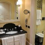 Vanity into Bathroom