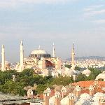 Aya Sophia from the rooftop of the hotel
