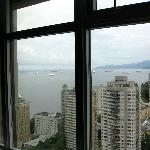 A view of the harbor from our hotel room on the 34th Floor