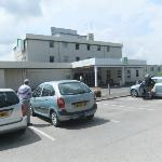 car park and front entrance