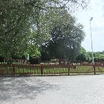 children's playground next to car park