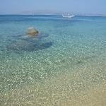 Agios Prokopios beach, 2min. walking from the hotel