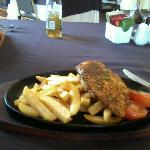 Cajun chicken sizzling platter