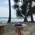 Small private beach
