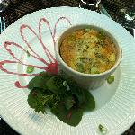Breakfast- Savory Artichoke Spinach Herb Custard