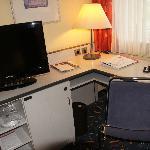 Desk in double room