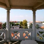 View on the way to the roof at the Villa Delle Palme in Lido, Venice