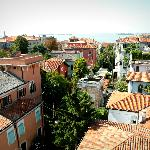 View from the roof at the Villa Delle Palme in Lido, Venice