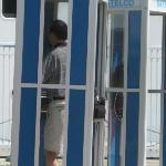 Telephone booths, something I have not seen in the states in years.
