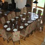 Dining table seating 16!